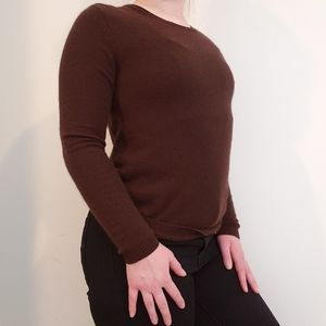 Neiman Marcus 100% Cashmere Red Brown Sweater